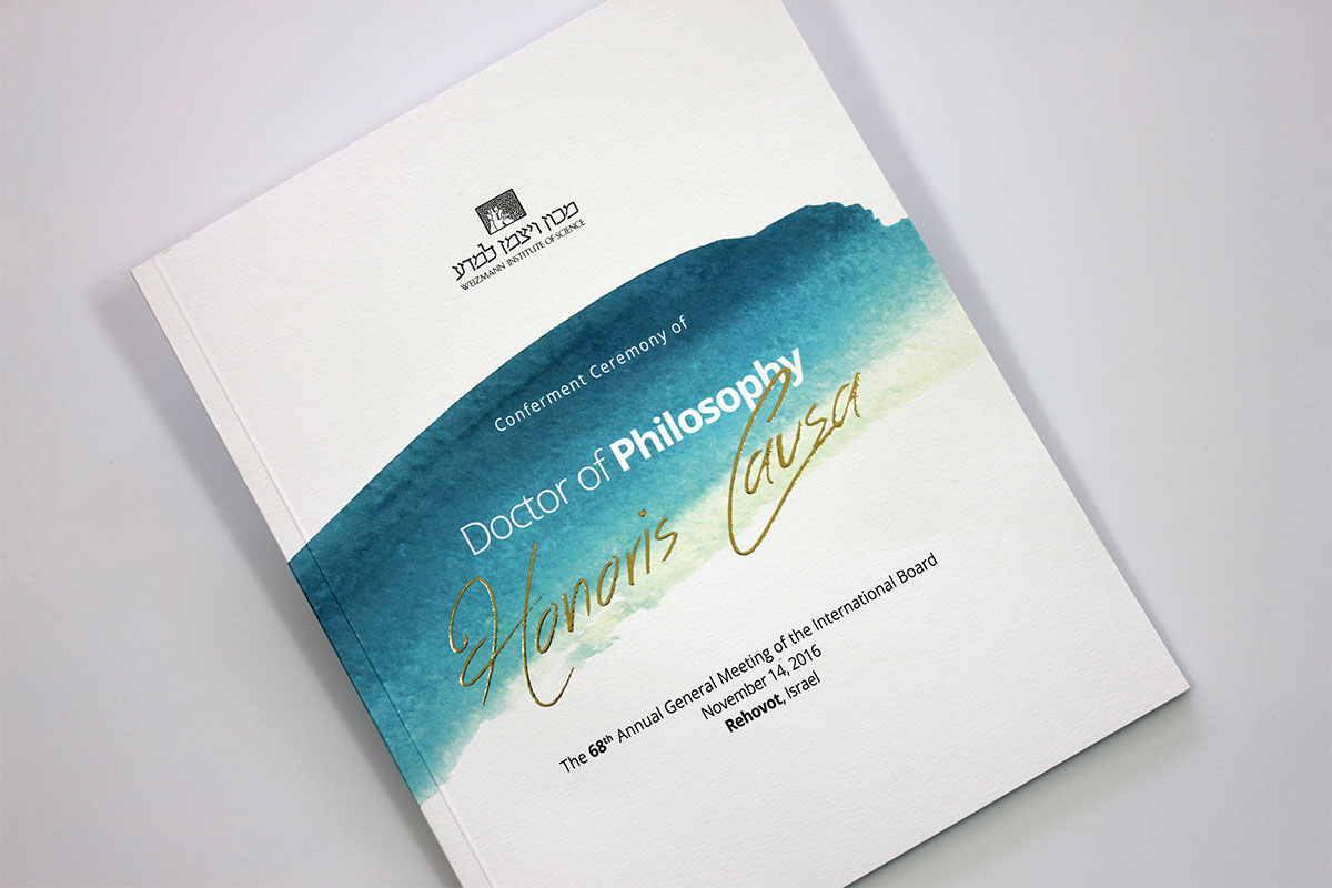 Conferment ceremony brochure